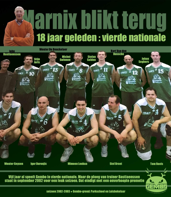 Marnix blikt terug - 2003